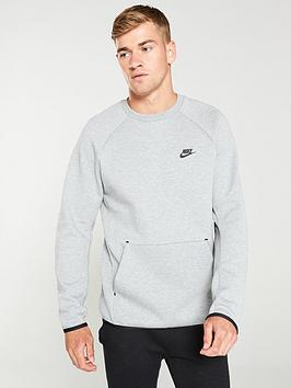 Nike Nike Sportswear Tech Fleece Crew Neck Sweat - Grey Picture
