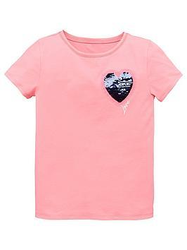 v-by-very-girls-short-sleeve-flippy-sequin-heart-t-shirt-pink