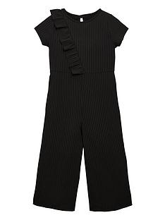 v-by-very-girls-frill-rib-culotte-jumpsuit-black