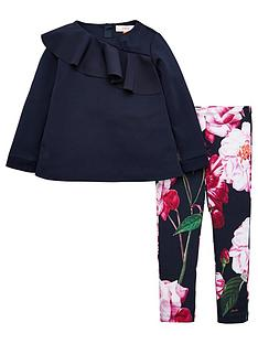 baker-by-ted-baker-girls-frill-front-top-and-legging-set-navy