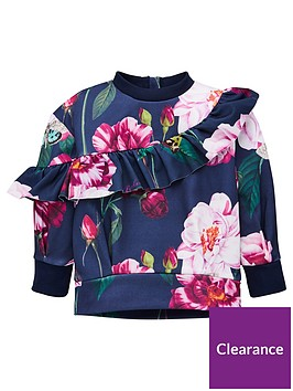 baker-by-ted-baker-girls-floral-frill-sweat-navy