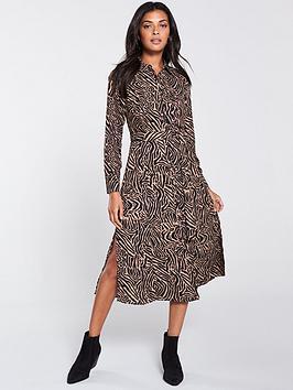 Oasis Oasis Tiger Shirt Midi Dress - Animal Print Picture