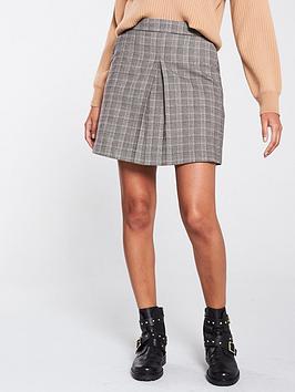 oasis-chocolate-box-check-skirt-multi