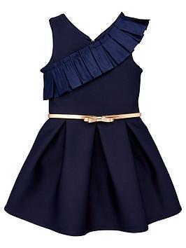 baker-by-ted-baker-girls-frill-scuba-prom-dress-navy