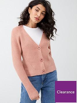 oasis-directional-rib-button-cardigan-pink