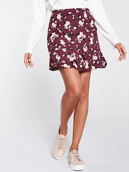 oasis-loganberry-mini-skirt-red