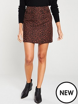 oasis-zebra-jacquard-mini-skirt-multi