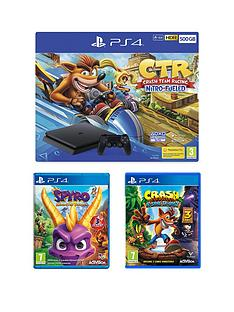 playstation-crash-team-racing-nitro-fueled-500gb-ps4-bundle-with-crash-bandicoot-nsane-trilogy-spyro-trilogy-reignited-andnbspoptional-extras