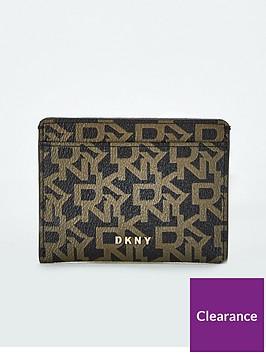 dkny-bryant-logo-flat-card-holder-black