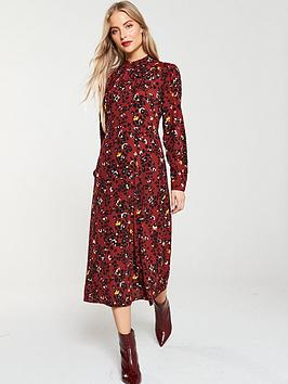 warehouse-floral-leopard-print-midi-dress-burgundy