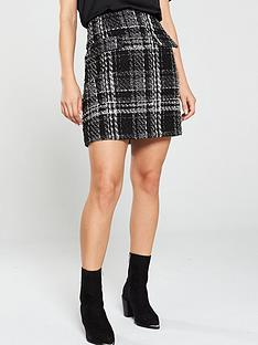 warehouse-sparkle-check-tweed-mini-skirt-mono