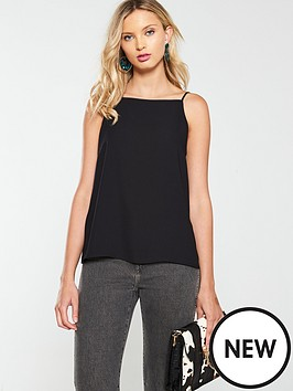 warehouse-core-cami-top-black