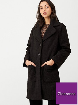 warehouse-faux-fur-teddy-coat-black