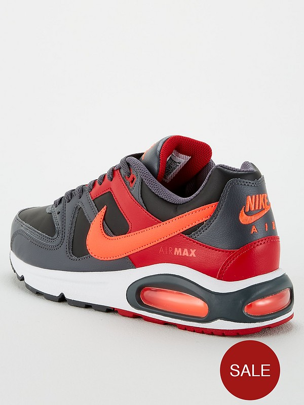 Nike Air Max Command shoes grey red