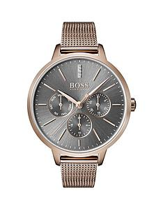 boss-boss-grey-sunray-crystal-set-multi-dial-rose-gold-stainless-steel-mesh-strap-ladies-watch