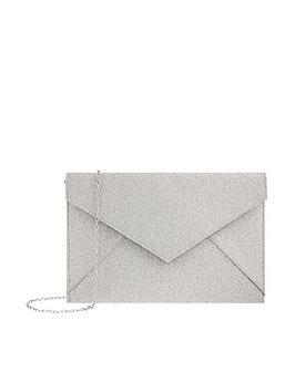 Accessorize Accessorize Lily Glitter Envelope Clutch - Silver Picture
