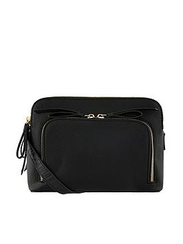 Accessorize Accessorize Taylor Double Zip Cross Body Bag - Black Picture