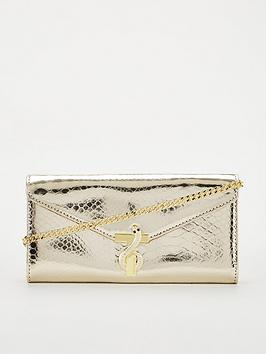 Ted Baker Ted Baker Carody Exotic Snake Cross Body Matinee Bag - Gold Picture