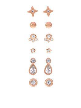accessorize-rose-goldnbsp6-x-sparkle-paw-stud-earrings-set