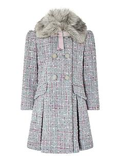monsoon-girls-tabitha-tweed-coat-grey