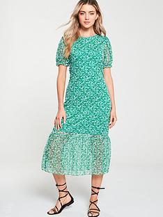 v-by-very-floral-mesh-frill-hem-dress-green
