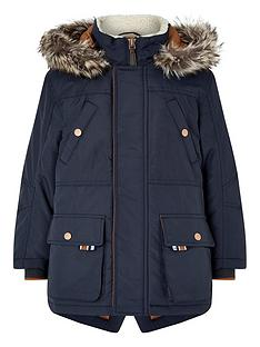 monsoon-boys-benjamin-reflective-trim-hooded-parka-navy