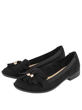 Accessorize   Elasticated Latimer Loafers - Black