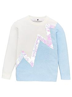 v-by-very-girls-zig-zag-flippy-sequin-detail-jumper-cream
