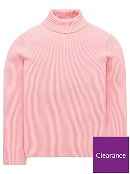 v-by-very-girls-roll-neck-ribbed-jumper-pink