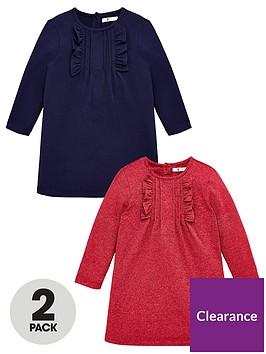 v-by-very-girls-2-pack-frill-detail-dresses-multi