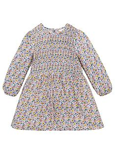 v-by-very-girls-floral-long-sleeve-shirred-dress-multi