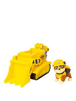 Paw Patrol Paw Patrol Bulldozer Vehicle With Rubble Figure Picture