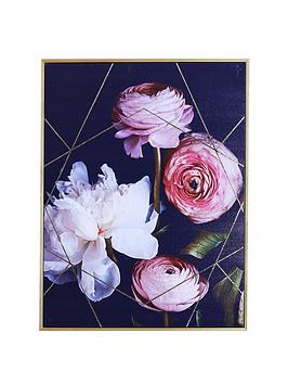 ARTHOUSE  Arthouse Dark Floral Capped Canvas Wall Art