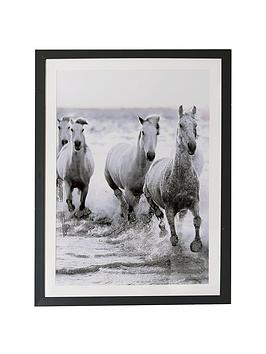 ARTHOUSE  Arthouse Wild Horses Framed Print With Glitter