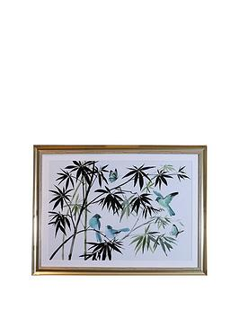 ARTHOUSE Arthouse Oriental Birds Framed Print Picture