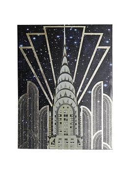 ARTHOUSE  Arthouse Gold Chrysler Gloss Canvas With Foil Art Print