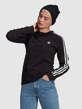 adidas Originals Adidas Originals 3 Stripe Ls - Black Picture