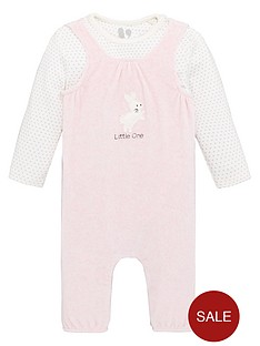 v-by-very-baby-girls-2-piece-super-soft-dungaree-outfit-pink
