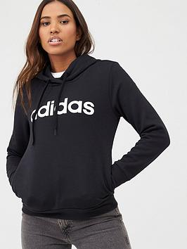 Adidas Adidas Essentials Linear Overhead Hoodie - Black Picture