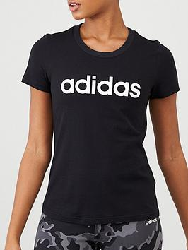 Adidas Adidas Essentials Linear Slim Tee - Black Picture