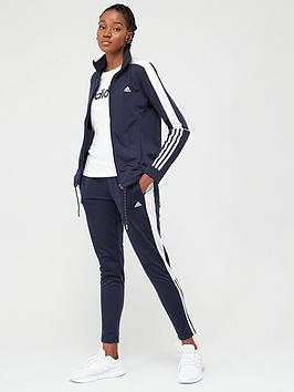 Adidas Adidas 3 Stripe Full Zip Tracksuit - Navy/White Picture