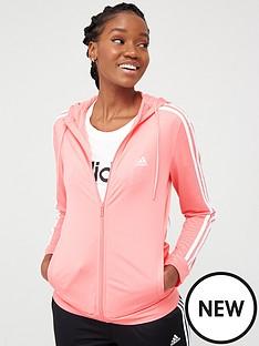 adidas-3-stripe-full-zip-hooded-tracksuit-pinkblack