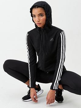 Adidas   3S Knt Fz Hoodie - Black
