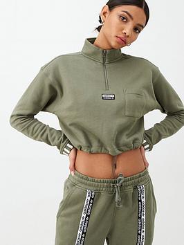 adidas Originals  Adidas Originals Cropped Sweat - Green