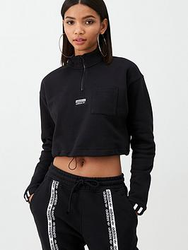 adidas Originals Adidas Originals Cropped Sweat - Black Picture