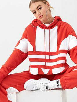 adidas Originals  Adidas Originals Large Logo C Hoodie - Red