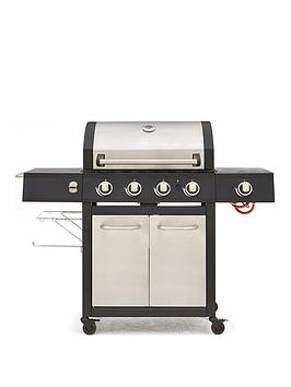Very  Premium Stainless Steel 4-Burner Barbecue With Side Burner