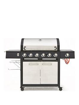 Very  Premium Stainless Steel 6-Burner Bbq With Side Burner