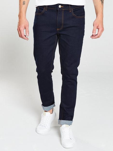 river-island-dark-blue-sid-skinny-jeans