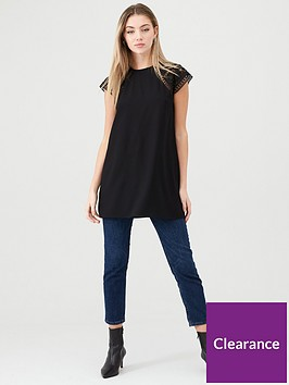 v-by-very-lace-sleeve-tunic-black
